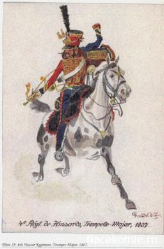 4e regt de hussards, trompette-major 1807