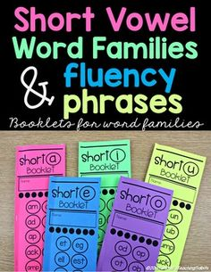 This set of books is for short vowel word families. This is a system for teaching your little readers short vowel word families in a self-paced systematic way!   Provide targeted word family and fluency phrase practice with these booklets!  This file also contains editable template with instructions.