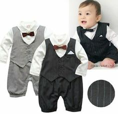 Kids Baby Boy One Piece Gentleman Romper Jumpsuit Outfit Clothes Outfit Set