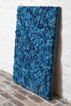 Work of Art Made by Blue Paper Flowers | From a unique collection of antique and modern decorative art at http://www.1stdibs.com/furniture/wall-decorations/decorative-art/