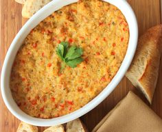 Incredible Baked Clam Dip is like biting into a giant baked clam.  So good and perfect for a Super Bowl, or any party!!
