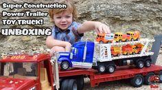 Garbage Truck Videos For Children / Super Construction Trailer Truck UNB...