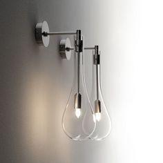 Contemporary wall light / for bathrooms / glass / for mirrors - SPLASH - Arlexitalia