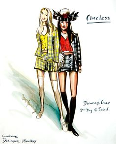 """""""Going back to Clueless, it's stuff that fits girls right. Everything is proportionate. We used high fashion, yes, but I also shopped at thrift stores. It's all in proportion, and that really makes a difference. In our own lives too, it really has to fit you."""" - from the film's costume designer Mona May. #happybirthdayclueless"""