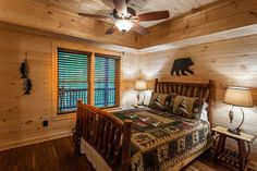 Ellijay cabin rental - Basement bedroom with high-end bedding. Queen.