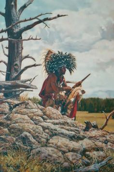 Cheyenne Dog Soldier by Steve Lang. Native American Warrior, Native American History, Native American Indians, Native American Paintings, Native American Pictures, Indian Artwork, Indian Paintings, Native Indian, Native Art