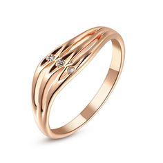 Petit Diamond Wavy Ring