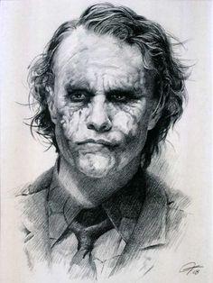 The Joker by Heath Ledger - Celebrity
