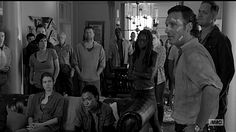 6x01 Sasha says she'll help Daryl lead the walkers away and Abraham quickly offers to join her so she isn't alone. Glenn will help herd, but Maggie decides to stay back in Alexandria to keep an eye on things. Nicholas volunteers to help, despite Glenn's look of disapproval.