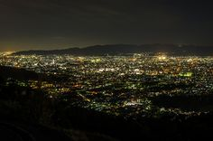 The night scene of Kyoto (from Daimonji-Yama) / 京都の夜景(大文字山より)