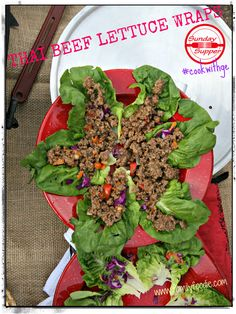 Lunch? Thai Lettuce Wraps