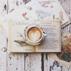 october mood and coffee (pumpkin foods photography) Coffee And Books, Coffee Art, Coffee Cups, But First Coffee, I Love Coffee, Latte Art, Café Chocolate, Pause Café, Cocoa