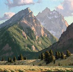 Jimmy Dyer :: Astoria Fine Art Gallery in Jackson Hole Landscape Art, Landscape Paintings, Landscapes, Oil Painting Materials, Classical Realism, Hudson River School, Mountain Art, Mountain Paintings, Great Paintings