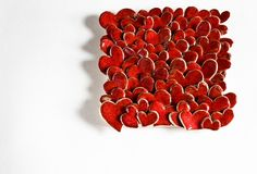 Super cute hearts ceramic tile, looks great framed