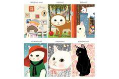 Sweet Sunday - Jetoy Choo Choo Cat Postcard Set, 6pcs, $6.99 (http://www.sweetsundayshop.com/stationery/jetoy-choo-choo-cat-postcard-set-6pcs/), Korean Stationery / Cute Stationery