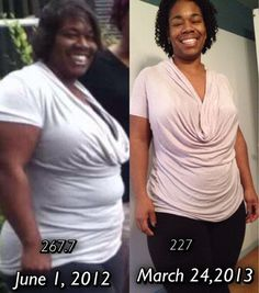 """Today's featured weight loss success story: Sherlonda lost 98 pounds. """"I started my journey November, 2011. I am 227 now but I was 325 lbs. and I was tired. My daughter who was a senior in high school, was my motivation when I started my journey."""""""