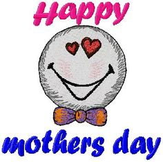 Mothers day embroidery design