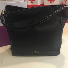 """Kate Spade Carroll brand new Brand new with tag Kate Spade Carroll bag in black! Gorgeous soft leather with handle detail and matching detail around the sides. Bag measures 11"""" long x 12.5"""" tall x 5.5"""" deep. Handle drop is 7"""". Ⓜ️$245 kate spade Bags Shoulder Bags"""