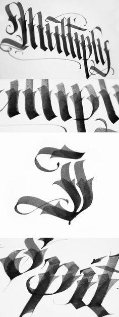 Thicker brush calligraphy.