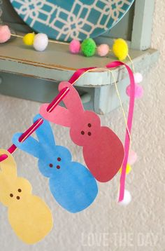 FREE Printable Peeps Garland by Love The Day.