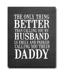 Husband and Daddy Print - Hypolita Co. Father Birthday Gifts, Homemade Fathers Day Gifts, First Fathers Day Gifts, Diy Father's Day Gifts, Fathers Day Quotes, Fathers Day Presents, Father's Day Diy, Fathers Day Crafts, Dad Birthday