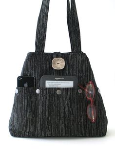 Hey, I found this really awesome Etsy listing at https://www.etsy.com/listing/202703949/shoulder-bag-purse-black-tote-bag-fabric