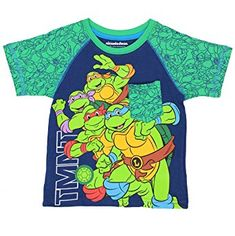 99dd87064f4 Nickelodeon TMNT Teenage Mutant Ninja Turtles Boys Short Sleeve Tee Cool  Tee Shirts
