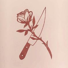 art, rose, and aesthetic image Knife And Rose Tattoo, Knife Tattoo, Wild Rose Tattoo, Aphrodite Aesthetic, Margaery Tyrell, Piper Mclean, Six Of Crows, Chaotic Neutral, Goddess Of Love