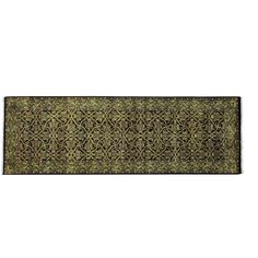 Herati Wool and Hand-knotted Runner Rug