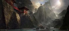 Art work by Scribble Pad Studios. Concept art for Crystal Dynamics' 2013 Tomb Raider reboot.