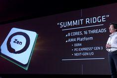 AMDs Lisa Su stellt Summit Ridge vor. (Foto: Marc Sauter/Golem.de)