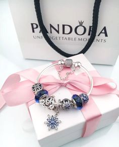 $134 pandora charm bracelet with blue theme 7pcs charms#pandora#charm#bracelet#snakechain#bracelet#heart#clasp#bangle#specialoffer#new#hot#affordableprice#muranoglass#charm#bead#eiffel#tower#pendant#blue#flower (scheduled via http://www.tailwindapp.com?utm_source=pinterest&utm_medium=twpin)