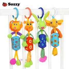 Plush toy animal baby bed round circle rattle BB instrument safe mirror gift 1pc