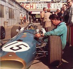 1967, Nürburgring, German GP, Guy Liergier's Brabham-Repco BT20