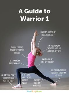 How to do Warrior pose 1 #toga