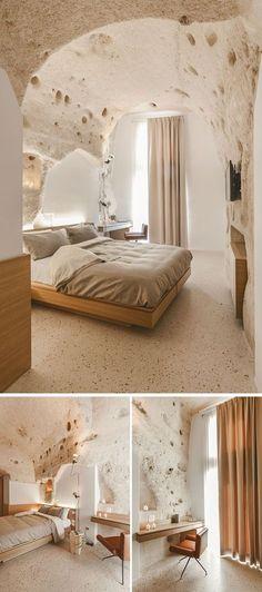 La Dimora di Metello, a hotel in Matera, Italy, combines historic cave-dwellings…