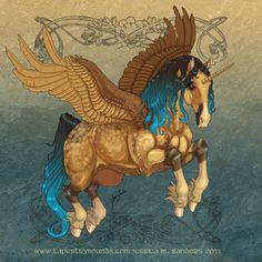 Name: Aashvi Species: Pegicorn (unicorn pegasus) Breed: Lusitano Gender: Mare Color: Dapple Buckski. Real Unicorn, Unicorn Horse, Unicorn Art, Magical Unicorn, Mythological Creatures, Fantasy Creatures, Mythical Creatures, Winged Horse, Unicorns And Mermaids