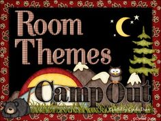 Classroom Decor - Camping has all you need to give your classroom that themed look.This set is NOT editable.