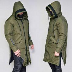 Side Zip Long Hood Padding-Parka 76 - GUYLOOK