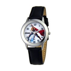 Marvel Comics Kids' W000325 Marvel Avenger Tween Stainless Steel Black Leather Strap Watch Marvel Comics. $37.99. Meets or exceeds all US Government requirements and regulations for children's watches. Water-resistant to 30 M (99 feet). Stainless Steel case. Accurate quartz movement. Durable mineral crystal. 1 year limited manufacturer's warranty