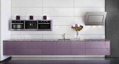 Mauve lilac kitchen
