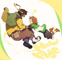 Hunk and Pidge