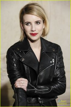 Emma Roberts at the Christian Dior Autumn/Winter ready-to-wear collection fashion show during Paris Fashion Week Pop Fashion, Fashion Show, Paris Fashion, Christian Dior 2014, Emma Roberts, Cut And Style, Ready To Wear, Toms, Hair Cuts