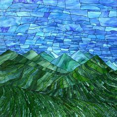 Kasia Mosaics - Stained Glass Mosaic Art, Process and Education by Kasia Polkowska ~ Alamosa, Colorado Blue Mosaic, Mosaic Glass, Stained Glass, Glass Art, Sea Glass, Mosaic Wall Art, Mosaic Tiles, Mosaic Drawing, Mosaic Mirrors