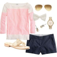 A fashion look from May 2013 featuring J.Crew t-shirts, J.Crew shorts and Jack Rogers sandals. Browse and shop related looks.