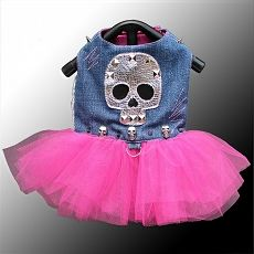 Dress your pampered pooch to the nines with this upcycled denim dog tutu. Designer doggy couture is one of the hottest trends touted by celebrities and. Girl Dog Clothes, Puppy Clothes, Pet Fashion, Animal Fashion, Dog Tutu, Dog Jacket, Dog Vest, Dog Clothes Patterns, Designer Dog Clothes