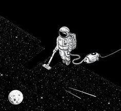 Vaccum of space