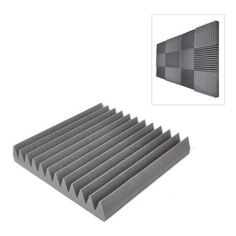 Sound Panel Soundproofing Studio Foam Acoustic Recording Wedge Panels Isolation Absorption Audio Dampening Wall Tiles Pieces) x Squares Diy Vocal Booth, Studio Foam, Noise Sound, Foam Panels, Sound Absorption, Audio Room, Acoustic Panels, Sound Proofing, Recording Studio