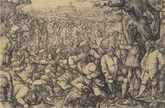Anton Moller (1563-1611) A kermesse with men brawling, the city of Danzig in the far distance