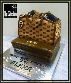 "The ""GUCCI & DIAMONDS ARE A GIRLS BEST FRIENDS"" Cake by TheCakeDon"